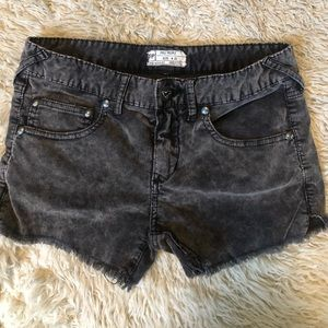Free People corduroy black shorts